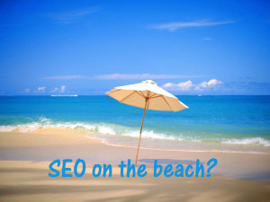 Seo on the beach